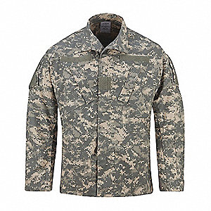 "ACU Coat, L Fits Chest Size 41"" to 45"", Universal Digital Color"