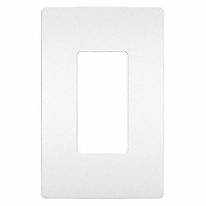 Rocker Wall Plate,  White,  Number of Gangs 1