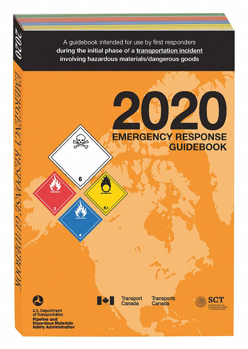 Reference Book,  Safety and DOT,  2020 ERG,  Paperback