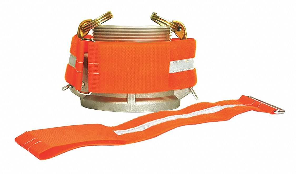 Hook-and-Loop-Type Cam Arm Cinch Strap, Orange, 2 in x 12 in, 10PK