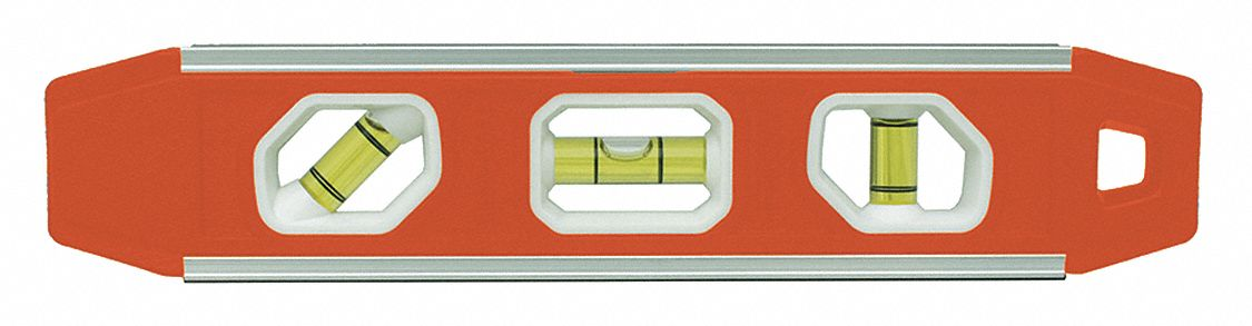 Aluminum Torpedo Level, 9 in Length, Magnetic, Top Read: Yes