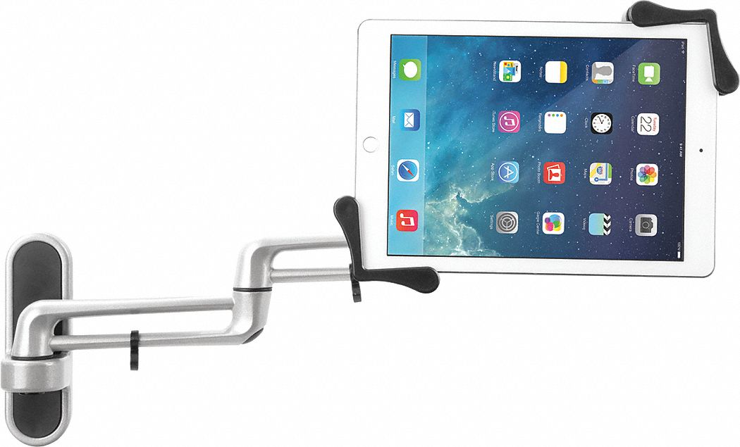 "Tablet Wall Mount, 17-7/8"" L, Silver"