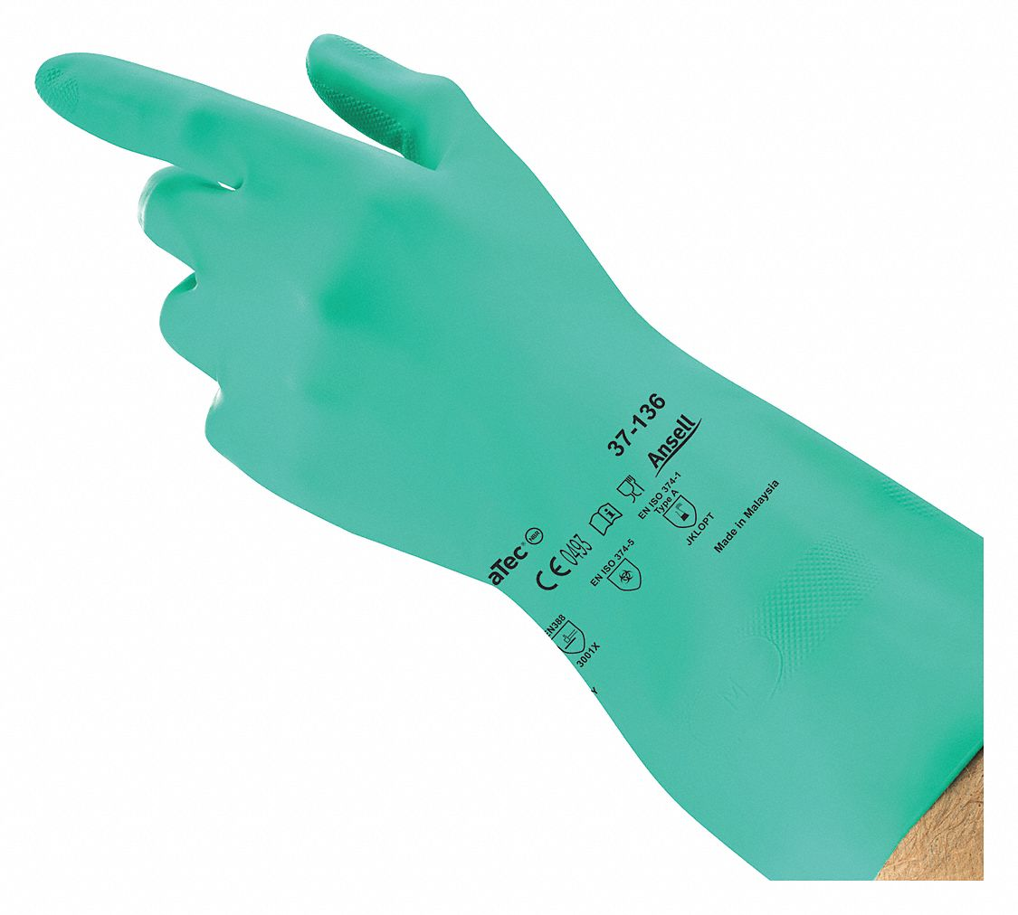 Gloves,  11,  Glove Materials Nitrile,  1 PR