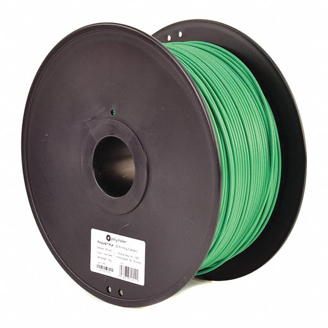 3D Printing Filament,  PLA,  Green,  Diameter 3 mm,  3.00 kg