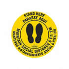 Bilingual Spanish - Stand Here - Maintain Social Distance Floor Sign
