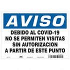 Spanish - Notice - Due To COVID-19 No Unauthorized Visitors Sign