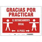 Spanish - Practice Social Distancing Sign