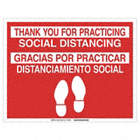 Spanish - Thank You For Practicing Social Distancing Floor Sign