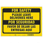 Bilingual Spanish - For Safety - Please Leave Deliveries Here Sign