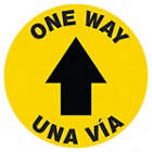 Bilingual Spanish - One Way Floor Sign