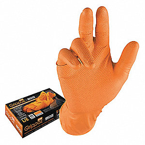 Nitrile,  Disposable Gloves,  L,  Powder-Free,  6.00 mil Palm Thickness,  PK 50