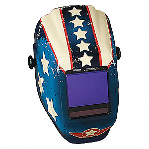 "Auto-Darkening Welding Helmet, 5 to 13 Lens Shade, 3.25"" x 4"" Viewing AreaGraphics"