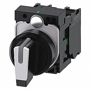 Non-Illuminated Selector Switch,  22 mm,  3,  Momentary / Maintained / Momentary,  2NO,  Lever