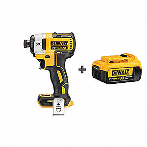 Dewalt 1 4 Cordless Impact Driver Kit 20 0 Voltage 1825 In Lb Max Torque Battery Included 58jl65 Dcf887b Dcb204 Grainger