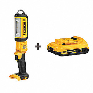 Rechargeable Worklight Kit, 250 to 500 lm