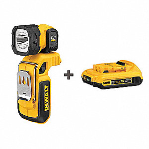 Rechargeable Worklight Kit, 20.0V, 175 lm
