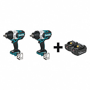 Cordless,  Impact Wrench Kit,  18VDC,  1180 ft.-lb. Breakaway Torque