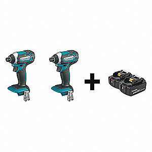 "1/4"" Cordless Impact Driver Kit, 18.0 Voltage, 1420 in.-lb. Max. Torque, Battery Included"