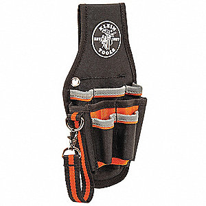 Black/Orange Tool Pouch, Ballistic Polyester, Fits Belts Up To (In.): 2