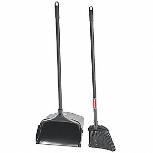 rubbermaid lobby broom and dust pan 35 overall length 59jm15 59jm15 grainger. Black Bedroom Furniture Sets. Home Design Ideas