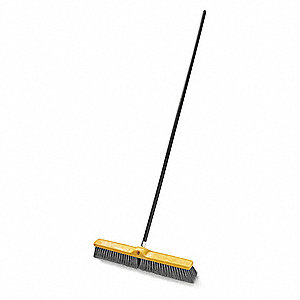 "Push Broom,Head and Handle,24"",Gray"