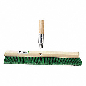 "Broom,Flagged Synthetic Bristle,24"" W."