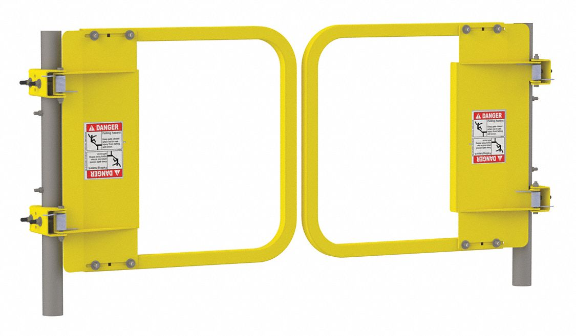 "Safety Gate,Dual,34 to 40.5"",Yellow,  Gate,  Steel"