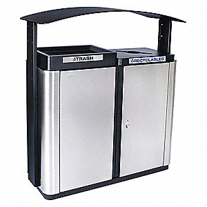 Silver, Black Recycling System