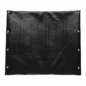 "Vinyl Back Upholstery, 24"" W, 8 Hole, Black"