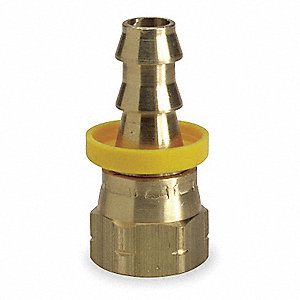 Straight Swivel Brass Push On Hose Fitting
