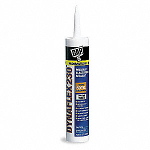 Sealant White, Sealant Application: Window and Door, 10.1 oz. Size, Tube