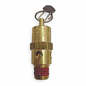 Brass Air Safety Valve with Hard Seat Valve Type