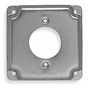 COVER,4X4,30 A RECEPTACLE 1.719 IN