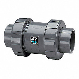 "1-1/4"" Check Valve, Archetype: Single, Inline True Union, FNPT x Socket"
