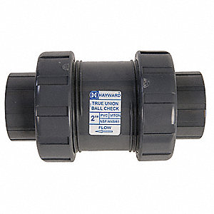 "1/4"" Check Valve, PVC, FNPT Connection Type"