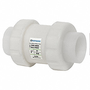 "1-1/2"" Check Valve, Polypropylene, FNPT Connection Type"