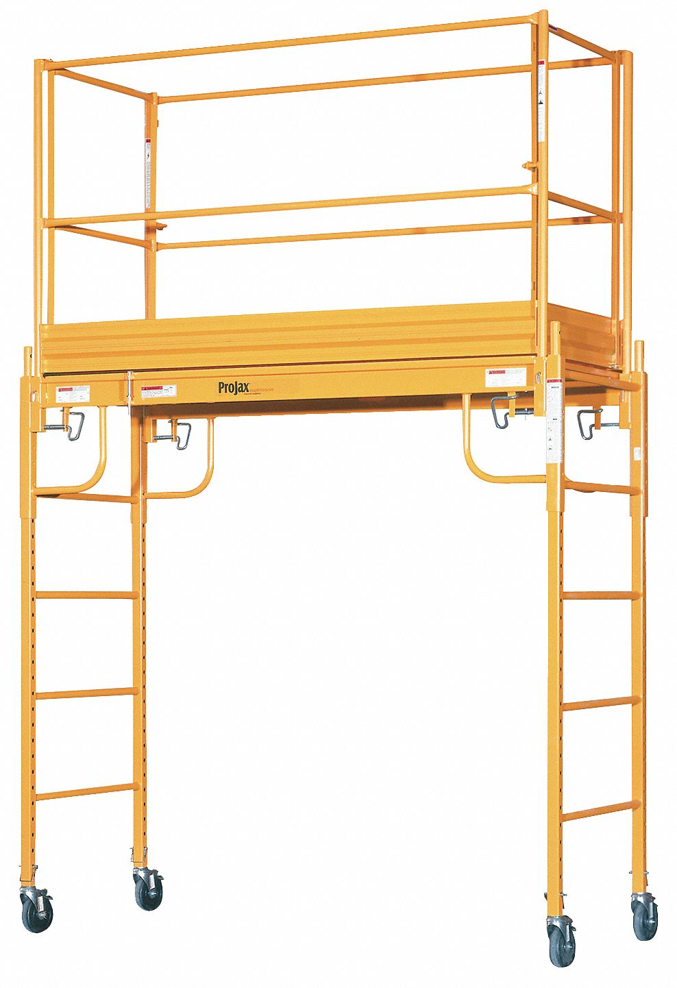 Scaffold Tower, Steel, 2 to 6 ft Platform Height, 9-1/2 ft Overall Height, 1,000 lb Load Capacity