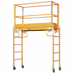 "Scaffold Tower, Steel, 6 ft. Platform Height, 9 ft. 6"" Overall Height, 1000 lb. Load Capacity"