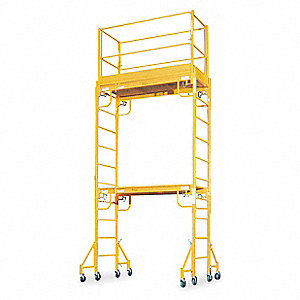 "Scaffold Tower, Steel, 11 ft. 6"" Platform Height, 15 ft. Overall Height, 1000 lb. Load Capacity"