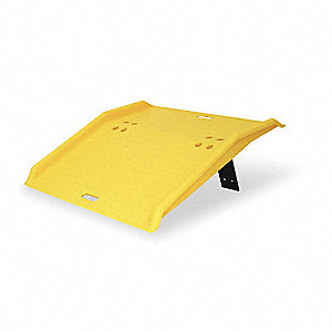 "Dock Plate, 750 lb. Load Capacity, 35"" Overall Width, 36"" Overall Length"