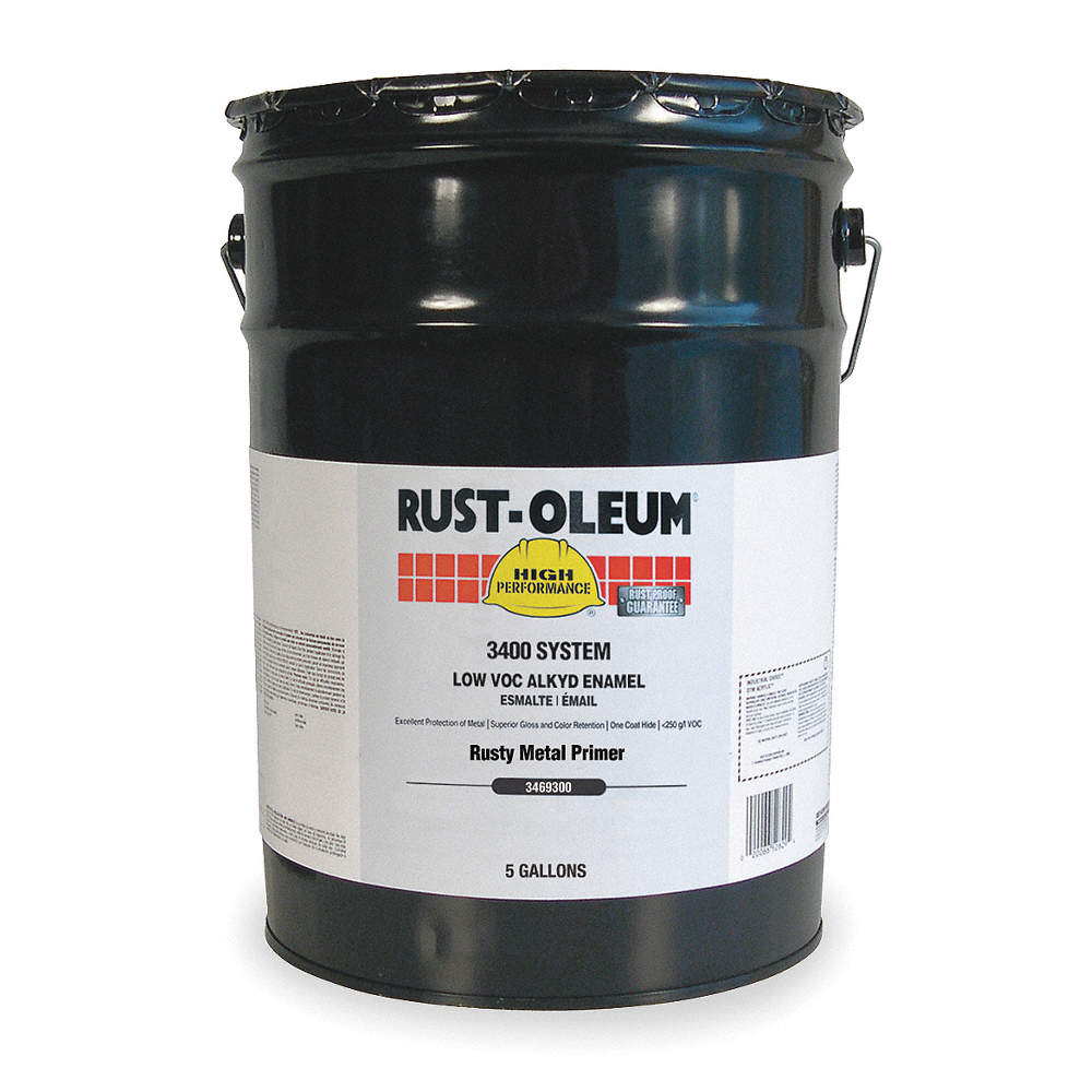 Interior/Exterior Primer with 290 to 585 sq  ft /gal  Coverage Red, 5 gal