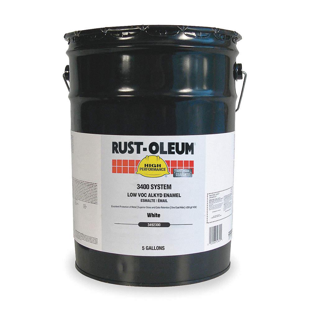 Rust Oleum Gloss Interior Exterior Paint Base White 5 Gal