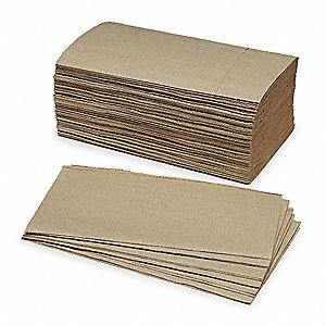 "9-1/4 x 10-3/4"" 1-Ply Single Fold Paper Towel, Brown&#x3b; PK16"