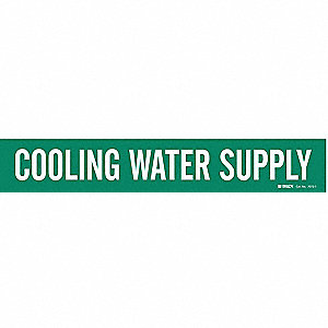 Pipe Marker,Cooling Water Supply,Green