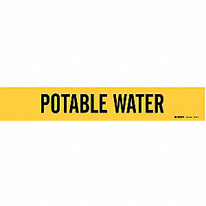 Pipe Markr,Potable Water,2-1/2to7-7/8 In