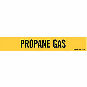 Pipe Marker,Propane Gas,Y,8 In orGreater