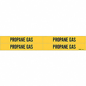 Pipe Marker,Propane Gas,Y,3/4 to2-3/8 In