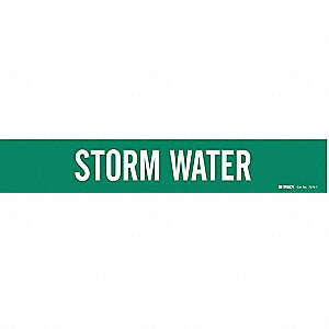 Pipe Marker,Storm Water,2-1/2to7-7/8 In