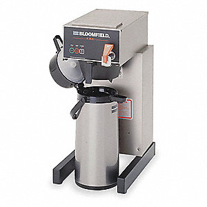 10 To 12 Cup Stainless Steel Commercial Electronic Airpot Coffee Brewer