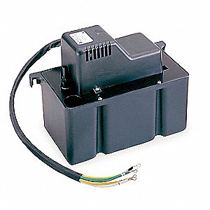 "1/30 HP Condensate Removal Pump, Medium Reservoir, 230VAC, 3/8""  I. D. Discharge Size"
